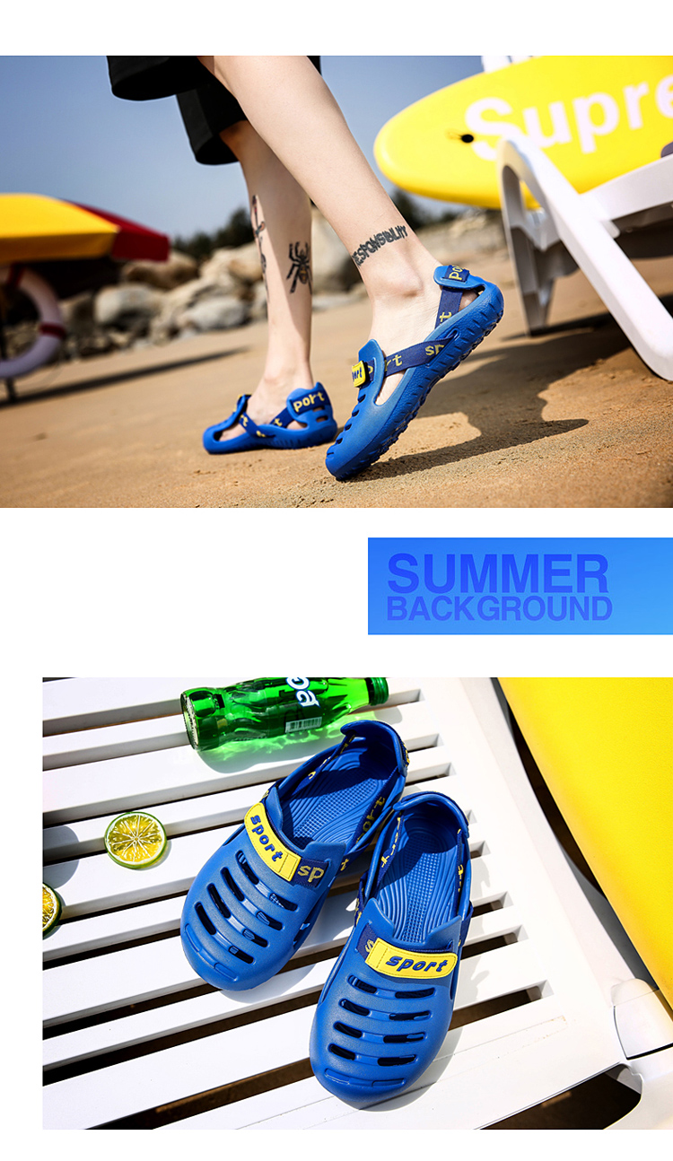 HTB1o7PDbizxK1RjSspjq6AS.pXaY - HKIMDL Men's Summer Shoes Sandals New Breathable Men Slippers Lighted Casual Shoes Outdoor Slip On Comfort Small size