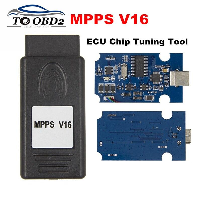 Neue MPPS V16 Auto ECU Chip Tuning Interface Multi-Sprache OBD OBDII Lesen & Schreiben ECU Flasher Für RDC15 EDC16 EDC17 Hohe Qualität