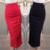 Moda de Cintura alta Faldas Lápiz Más El Tamaño Bodycon Tight Mujeres Midi falda de Hendidura de Las Mujeres Rojo Negro Moda Falda Jupe Femme S 5XL