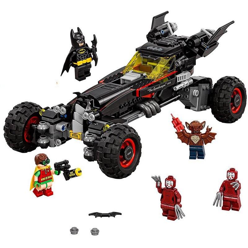 все цены на BELA 10634 Batman The Batmobile Movie Block Set Bat Car Legoings 3D DIY Figures toys for children educational building blocks