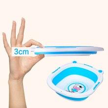 Baby Bath Tub Bathtub Foldable Plastic Large Infant Products Toddler Newborn Shower Folding Travel Safety Bathing