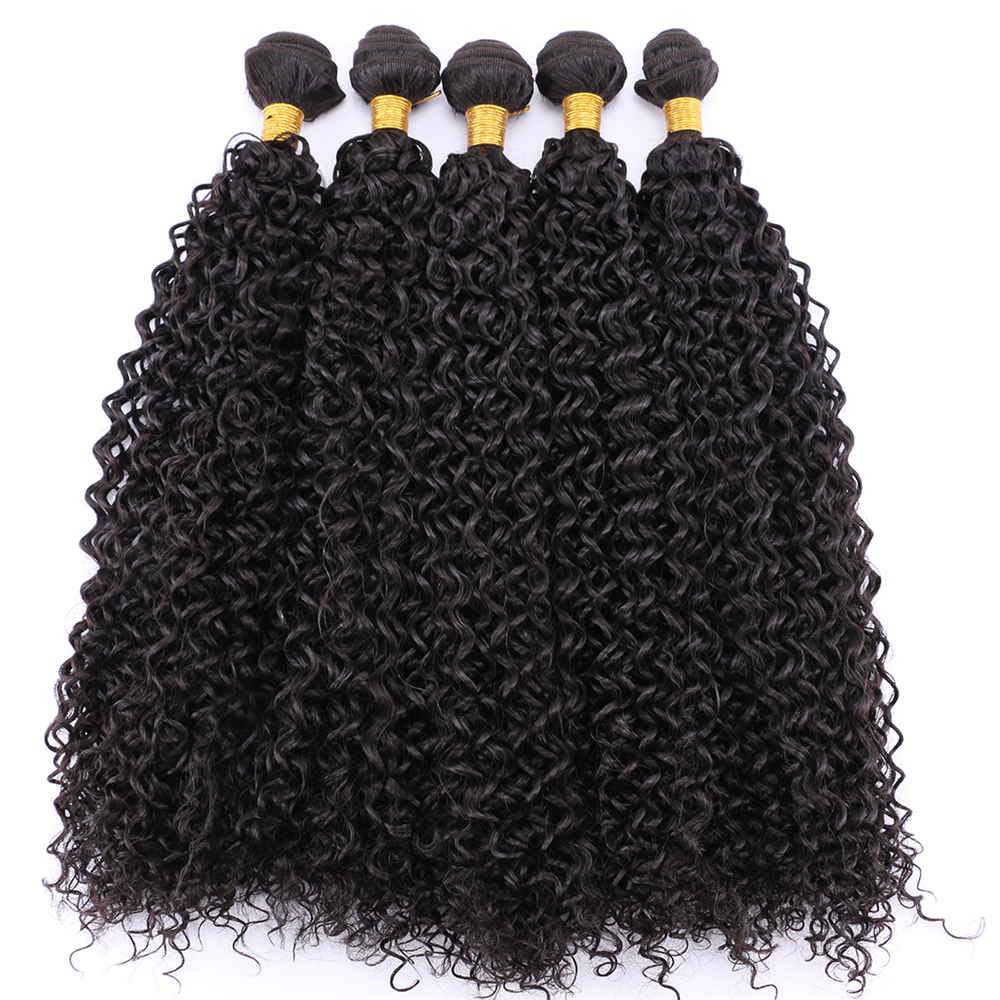 Synthetic Kinky Curly Hair Weave 100% Heat Resistant Hair Bundles 100g/pack Hair Extensions For Women