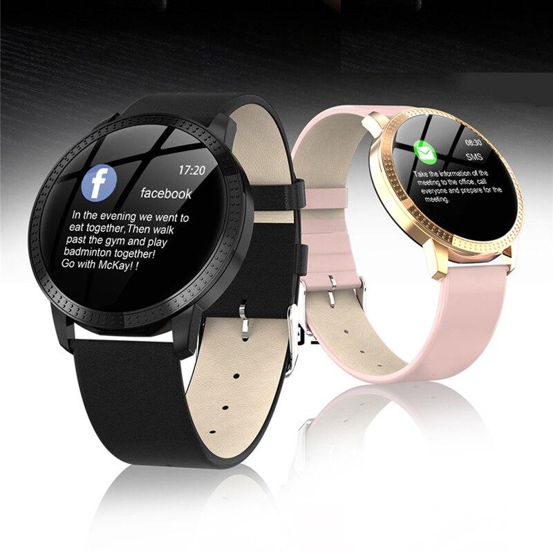CF18 hombres y mujeres reloj inteligente presión arterial Monitor de frecuencia cardíaca actividad deportiva Fitness Tracker reloj inteligente con Android Iphone