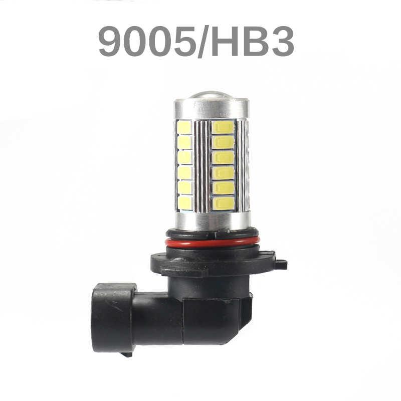 H4 H7 H8 H11 H10 H16(jp) 9005 hb3 9006 hb4 1156 BA15S 1157 BAY15D 33SMD LED luz antiniebla para coche bulbo del coche 6000K con 5630 lente LED Chip