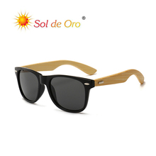 SOL DE ORO Rice Nail Sunglasses Men Women Classic Color Film Glasses Bamboo Legs Sunglasses PC Frame Glasses UV400 Protection classic uv400 protection sunglasses w pu leg black frame