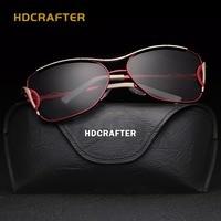 HDCRAFTER 2017 Cat Eye Women Sunglasses Brand Designer Metal Frame Polarized Fashion Glasses Women S Gafas