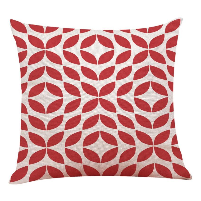 New Qualited Decorative Cushion Covers Home Decor cushion covers for sofa Red Geometric Throw Pillowcase Pillow Covers Jan9