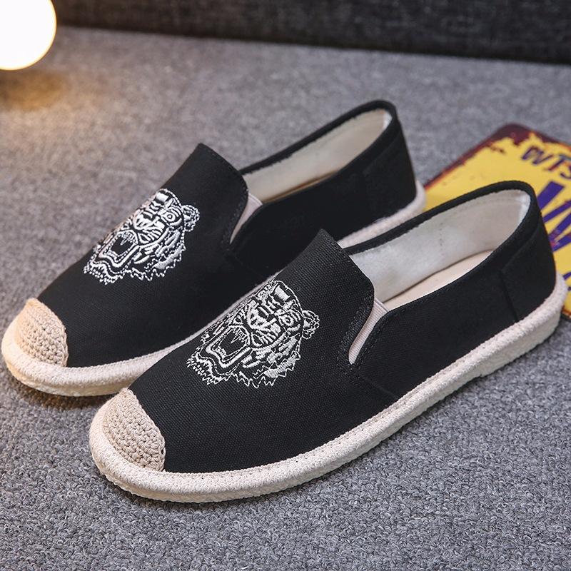 66382067dc1 2018 Fisherman Casual Linen Shoes Man Canvas Shoes Men Flats Shoes ...