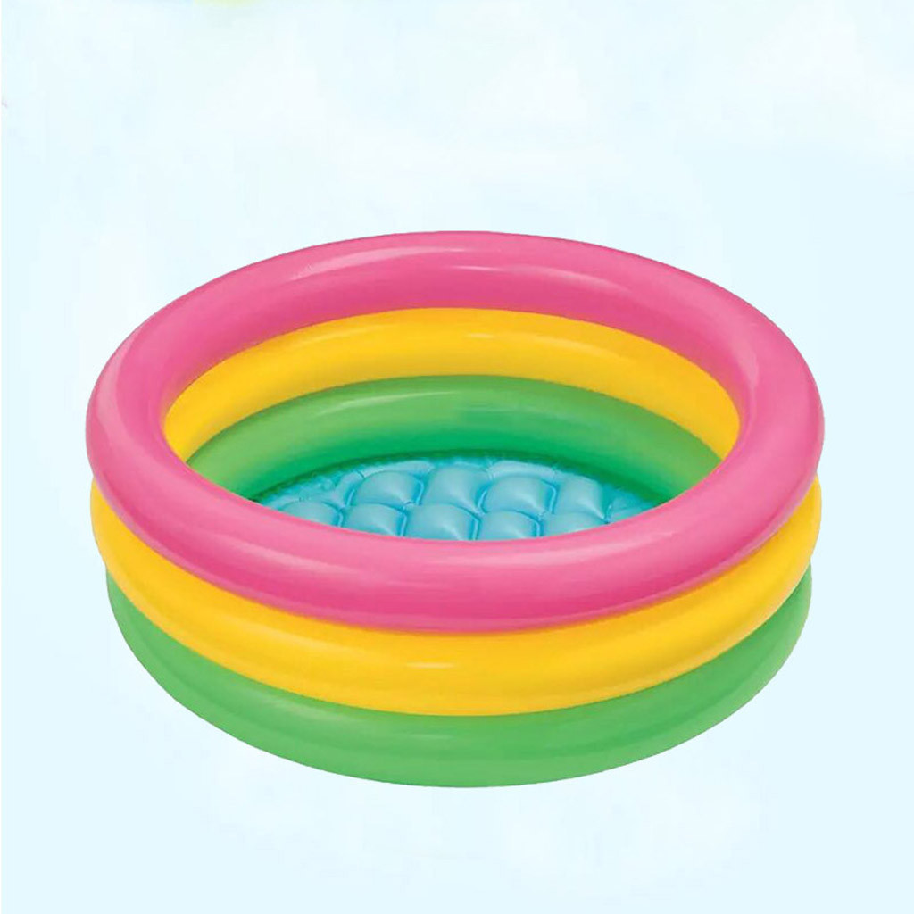 2019 Toddler <font><b>Baby</b></font> Children Kids Rainbow Round Inflatable Swimming <font><b>Pool</b></font> piscina zwembad basen <font><b>baby</b></font> <font><b>pool</b></font> piscine image