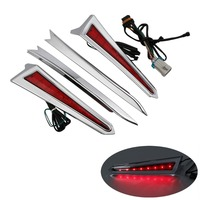 Chrome LED Saddlebag Extension Light For Victory Cross Country Tour Magnum 10 17 Motorcycle