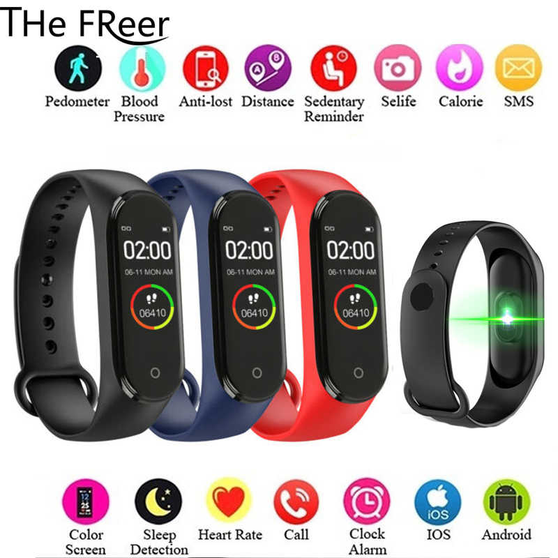 Color Screen Smart Watch Sport Fitness Bracelet IP67 Waterproof Blood Pressure Heart Rate Monitor Tracker For Men Women watch