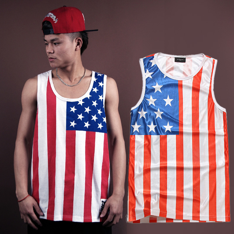 35c6a60c97f819 American flag usa clothes man big junior college boys t shirt sleeveless  Patriotic outfits 4th of july fourth Independence day