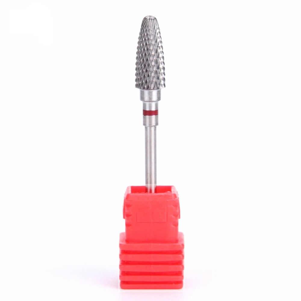 HOT Tungsten Carbide Phay Cutter Nail Khoan Bit Nail Công Cụ Nghệ Thuật Cho Điện Móng Tay Khoan Máy Phụ Kiện Loại Bỏ gel 5 loại