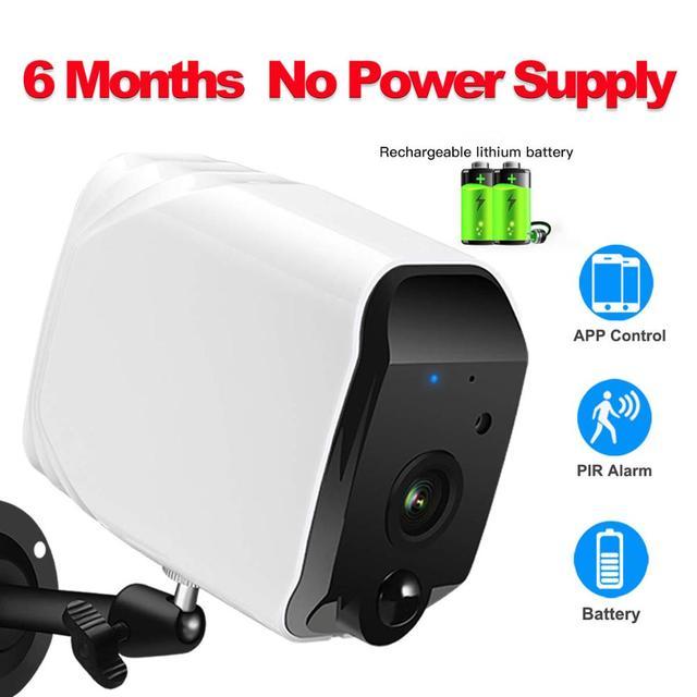 Draadloze Beveiliging Camera,1080P Wifi Batterij Camera Met Twee Weg Audio, Ir Nachtzicht, pir Motion Sensor, Indoor/Outdoor