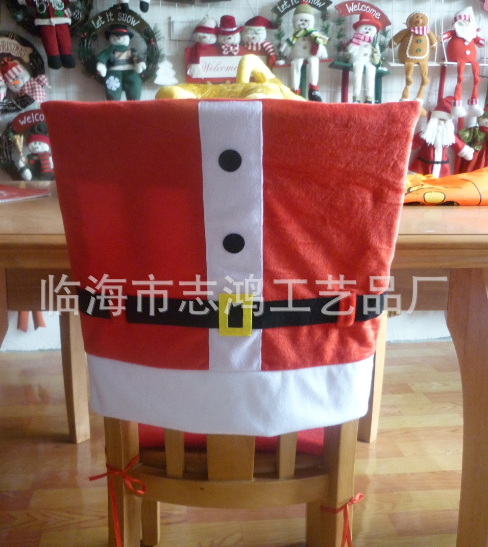 Christmas chair back covers - Merry Christmas Chair Covers Adornos Navidad Snowman Christmas Chair Covers Enfeites De Natal Arvore De Natal