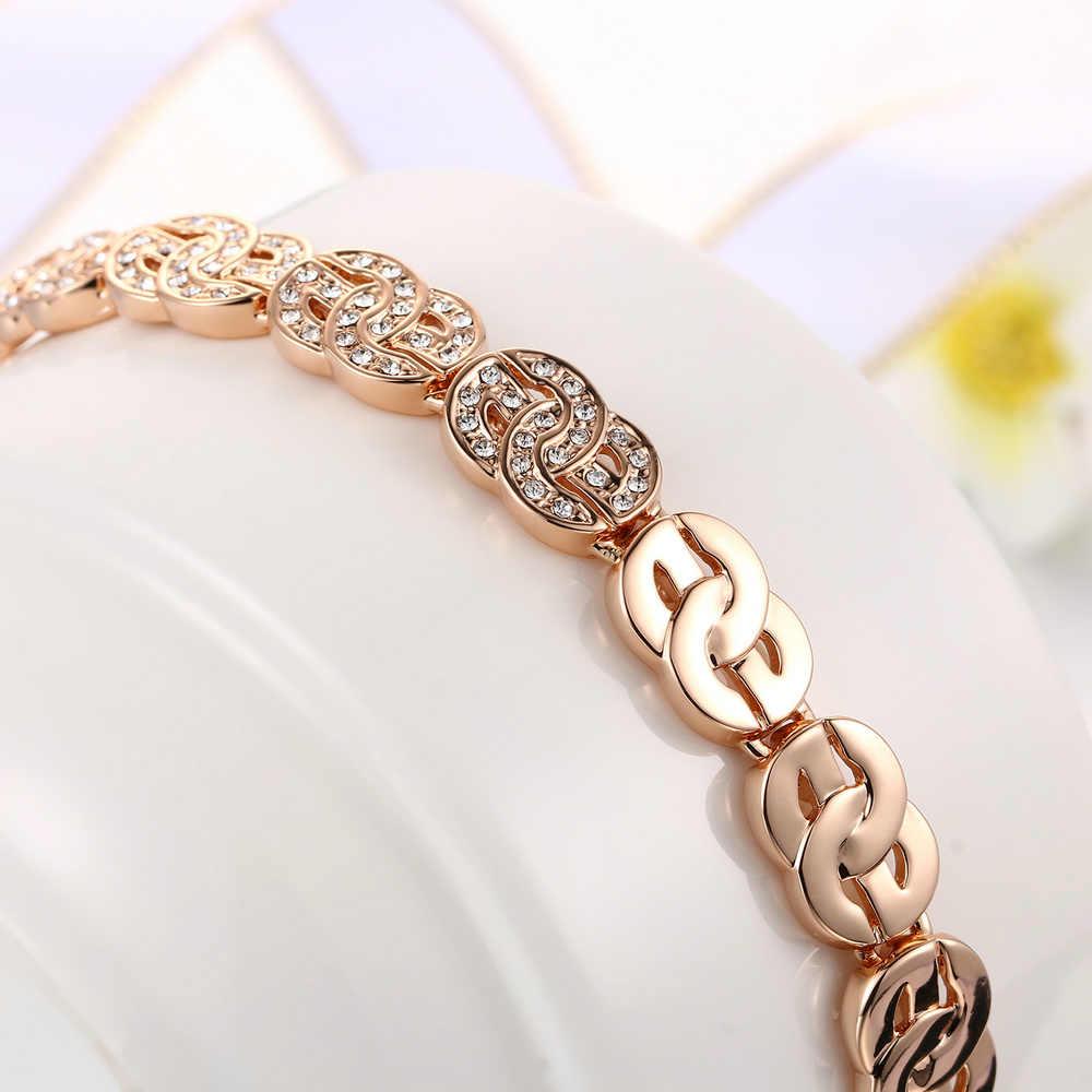 Hip Hop Bling nous Dollor en forme de Bracelet pour femmes et hommes de luxe or Rose couleur argent Style bijoux de mode H001