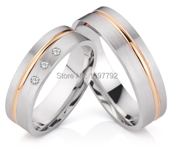 2014 best ebay custom tailor made wedding engagement ring his and hers sets titan trauringe cheap discount custom tailor titanium engagement ring wedding band his and hers lover bridal rings sets titan trauringe