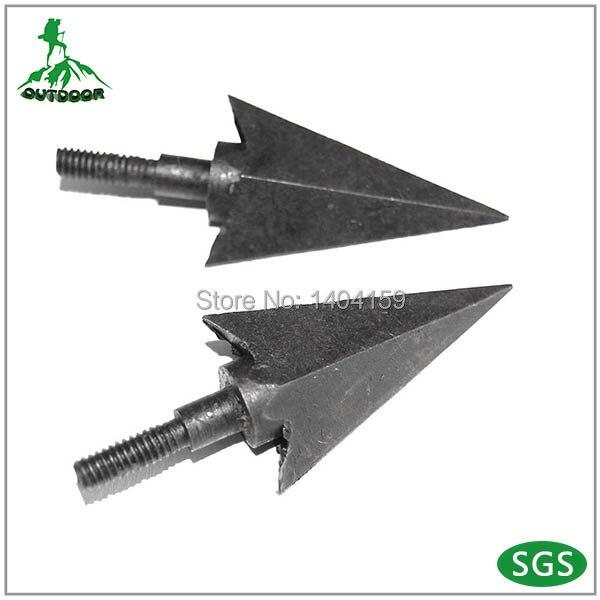 Target practice arrowhead screw on/off type arrow tips 200 grain 2 cutting 6pcs Broadheads free shiping