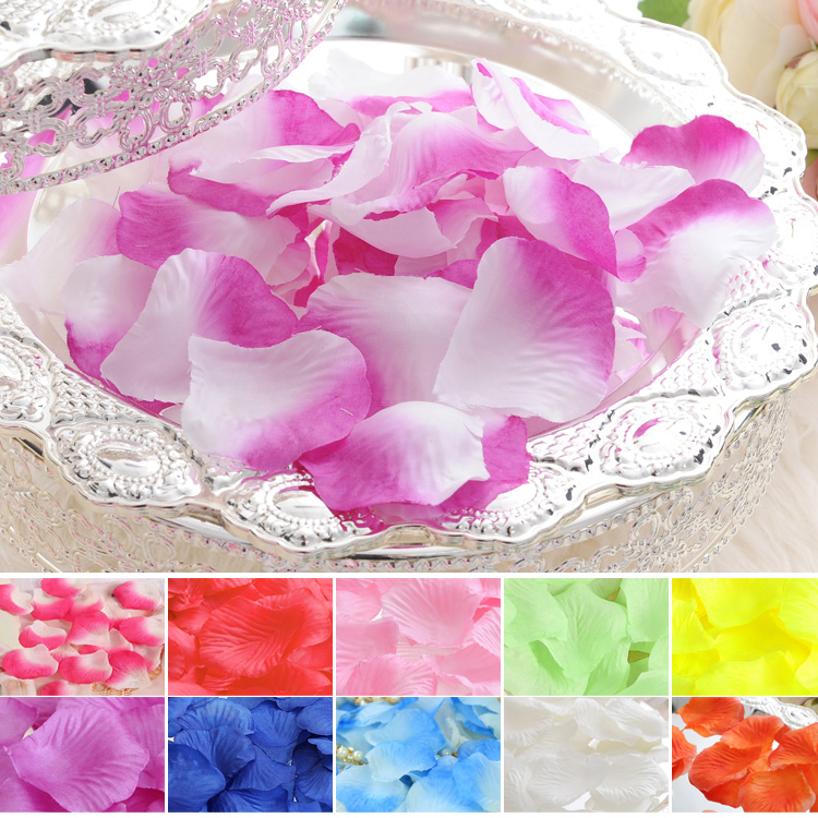 200PCS Simulation rose petals, wedding bed, hi bed Sahua <font><b>marriage</b></font> arranged <font><b>marriage</b></font> room wedding decorations, hand throwing, bed image