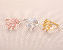 10 PCS lot fashion Gold Color silver rings for women with a lovely ring leaf ring