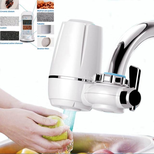 Rubinetto della cucina filtro acqua pi pulita macro for Materiale del tubo della linea d acqua