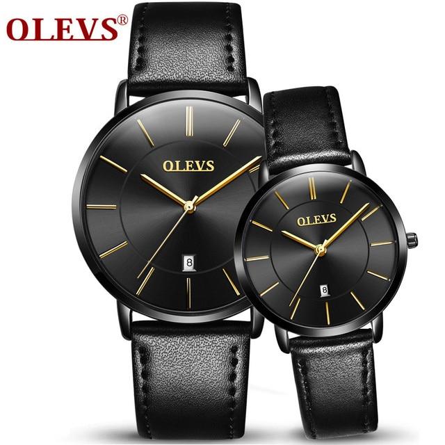 8fc12105381 OLEVS Relógios de Calendário dos homens de luxo Da Marca Homens e Mulheres  Relógio de Quartzo