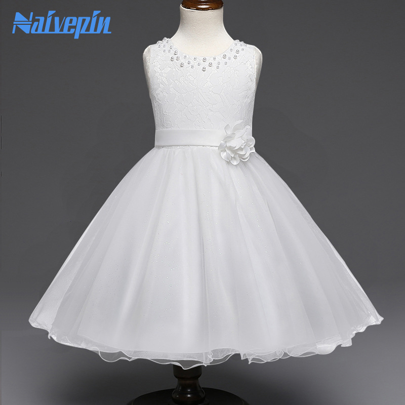 Wedding Dresses for Baby Girls Birthday Christmas Holiday Party Costume Clothes Floral lace Ball Gown TUTU Dress White Purple summer flower girl wedding dress toddler floral kids clothes lace birthday party graduation gown prom dresses girls baby costume