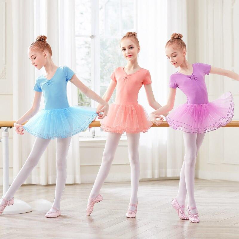 Girls Ballet Leotards Tutu Dress Kids Bubble Skirts Birthday Skirts Soft Leotards Gymnastics Training  Daily WearBallet   -