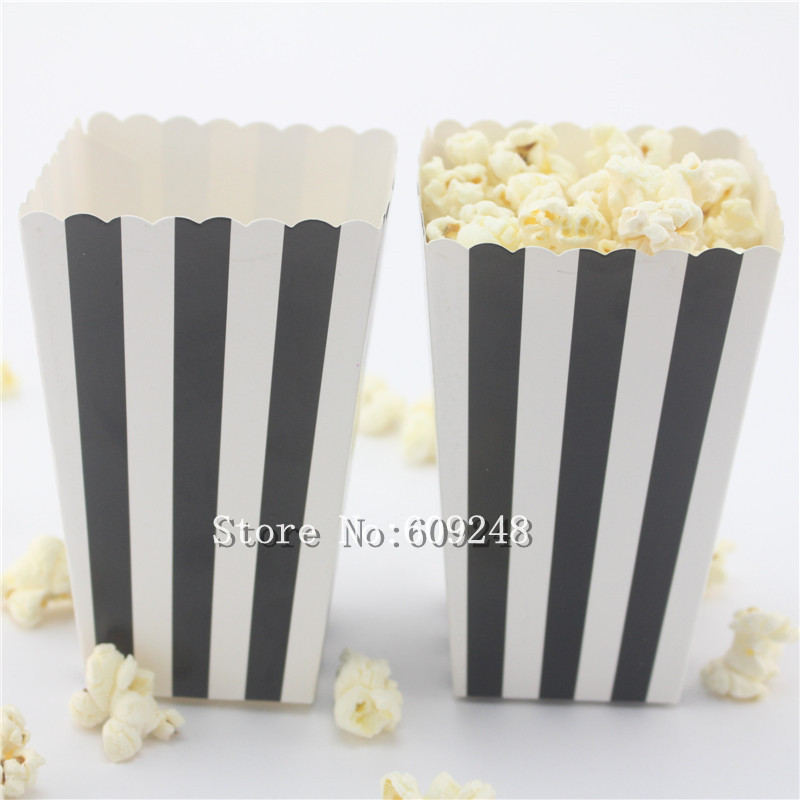Pleasing 24Pcs Black Striped Paper Mini Popcorn Boxes Black And White Stripe Candy Buffet Party Favor Snack Box Treat Cups Movie Night In Gift Bags Wrapping Download Free Architecture Designs Parabritishbridgeorg