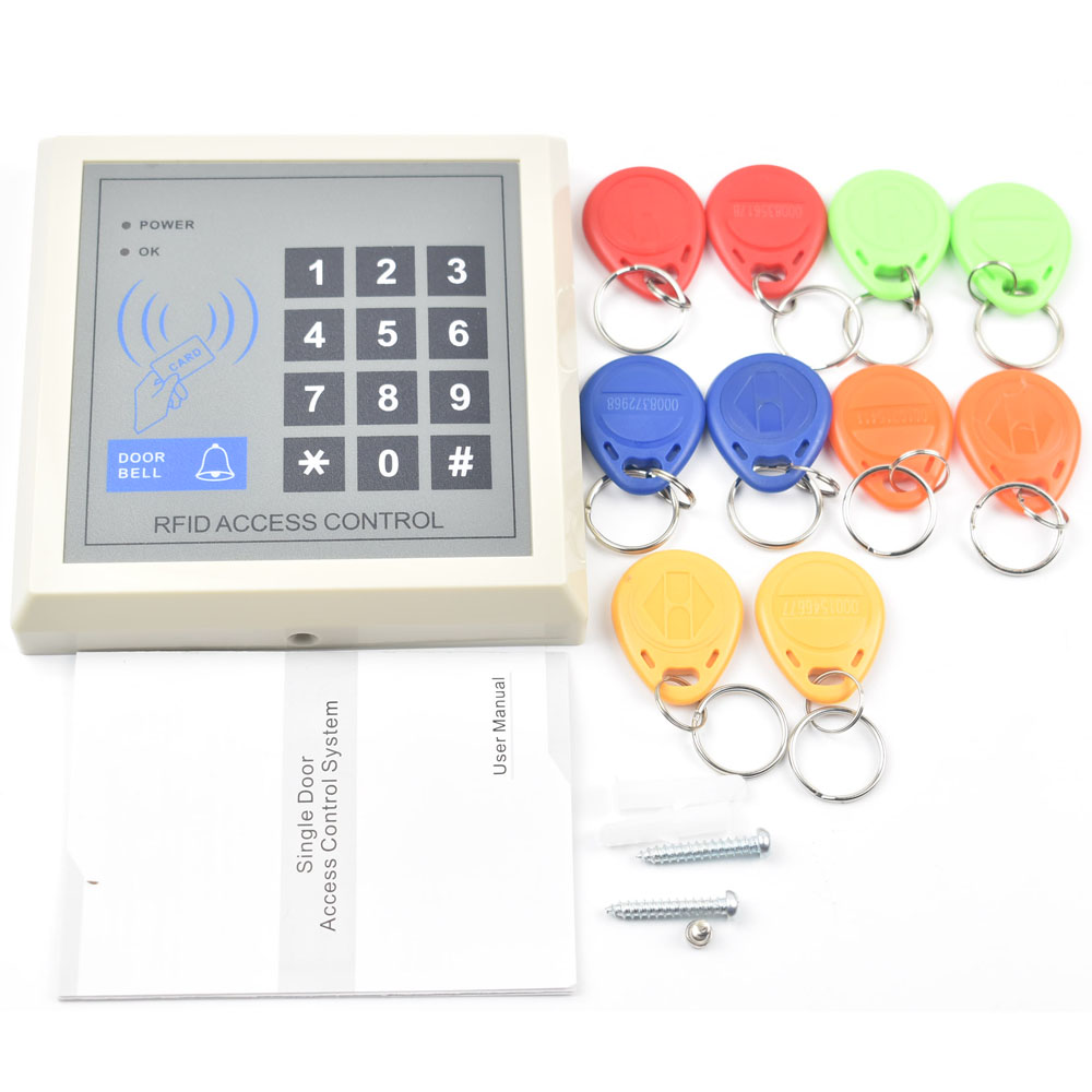 цена на RFID Proximity Entry Lock Door Access Control System+10 rfid id tags
