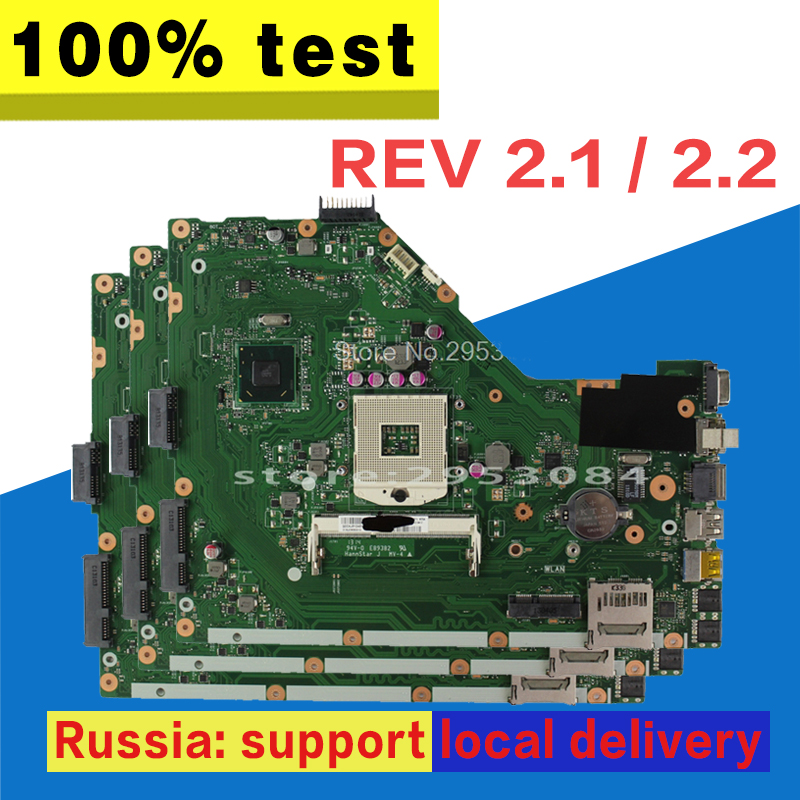X55A Motherboard REV.2.1 HM70 para ASUS X55A Laptop motherboard X55A Mainboard X55A placa madre prueba 100% OK