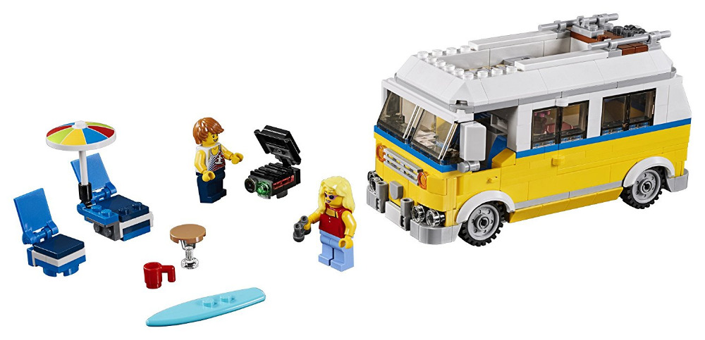 LEPIN Creator 3in1 Sunshine Surfer Van Building Blocks Bricks Kids City Classic Model Toys For Children Technic Compatible Legoe lepin city jungle cargo helicopter building blocks sets bricks classic model kids toys marvel compatible legoe