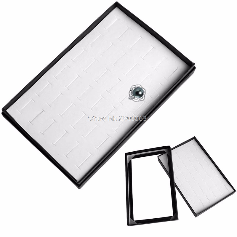 36 Ring Jewellery Display Storage Box Carrying Cases Tray Show Case Organiser Earring ...