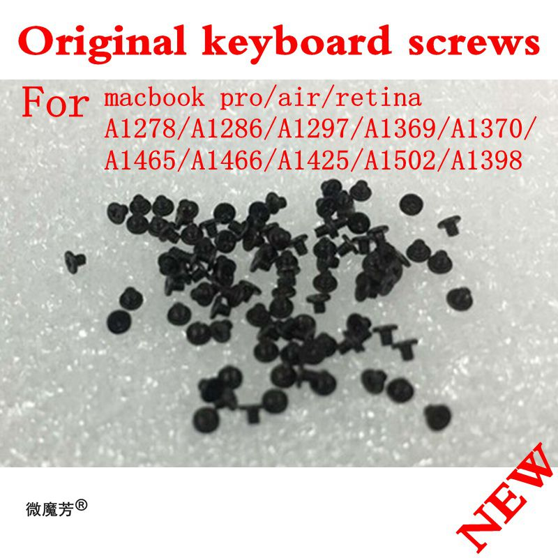 1000pcs/Lot NEW Keyboard Screw Screws For Macbook Air Pro Retina A1369 A1466 A1370 A1465 A1278 A1286 A1297 A1425 A1502 A1398 brand new rubber case feet with screws screwdriver kit set for macbook pro unibody a1297 a1286 a1278