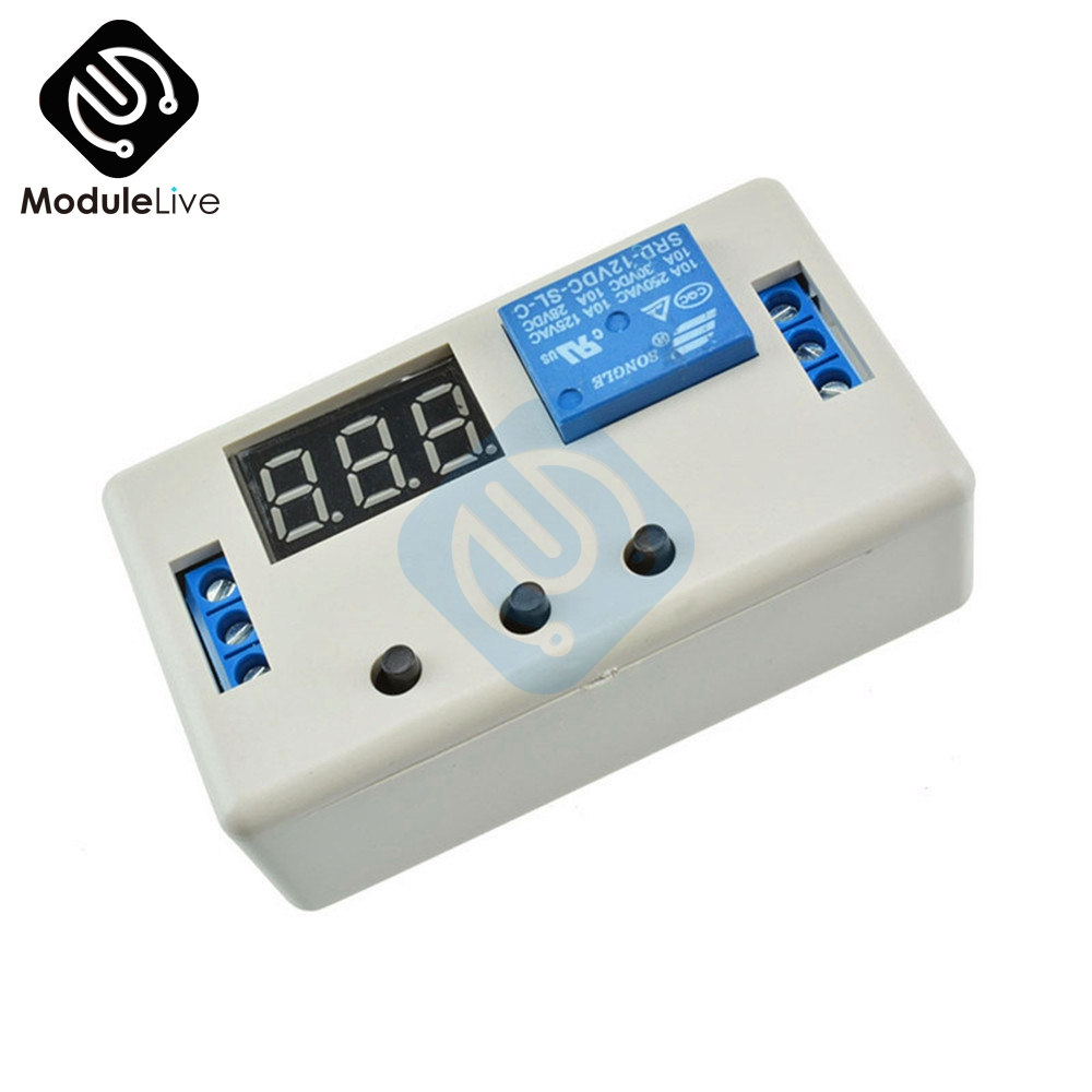 Digital LED Display Time Delay Relay Module Board DC 12V Control Programmable Timer Switch Trigger Cycle Module With Case недорго, оригинальная цена