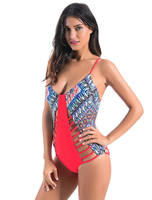 Women's piece of swimsuit Europe and the United States sexy hollow swimsuit