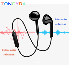 Neckband Earphone Sport Wireless Line-controlled Bluetooth earphone with Microphone call volume control For iphone S6