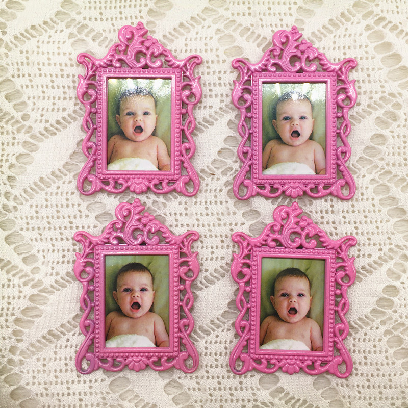 20pcs/lot Wedding Favors Baby Christening Gifts Baby Shower Favors Cute Metal Fridge Magnet Photo Frame-in Party Favors from Home & Garden    2