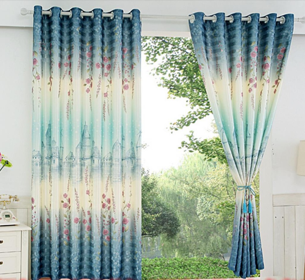 Curtain For Balcony: Curtain Finished Clearance Wave Short Window Curtain Half