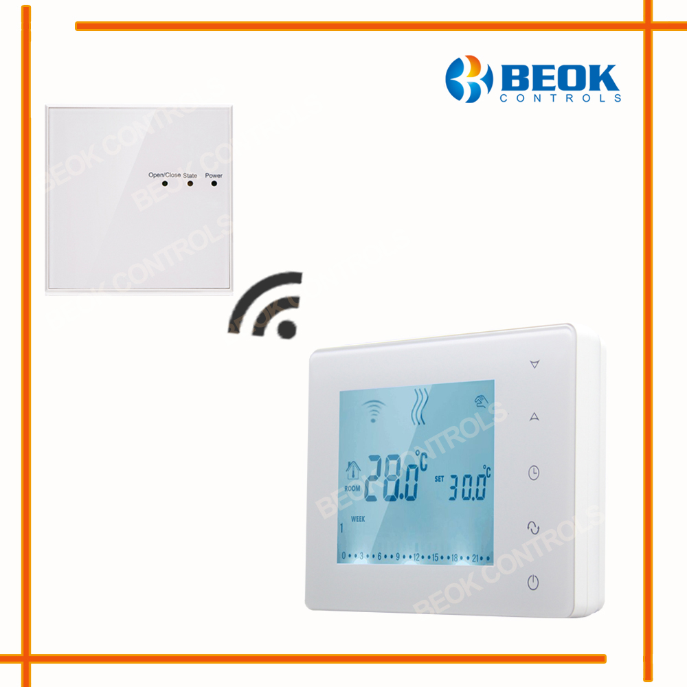 BOT-X306 Wireless Touch Screen Programmable Gas Boiler Thermostat For Room Heating Temperature Controller Regulator Kid Lock