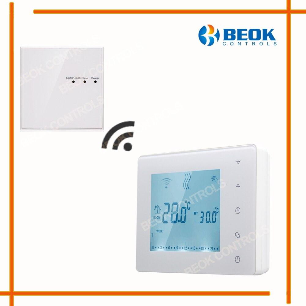 Thermostat Programmable sans fil de chaudière à gaz d'écran tactile de BOT-X306 pour la serrure d'enfant de régulateur de température de chauffage de pièce