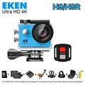 """2017 Nova Original EKEN H9R Ultra HD 4 K Câmera de Esportes de Ação de Vídeo Wide Angle de 2.0 """"tela 1080 p 60fps H9 + 2.4G controle Remoto cam"""