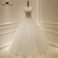 Custom Made QUEEN BRIDAL Ball Gown Lace Beading Tulle Long Formal Elegant Wedding Dresses Wedding Gowns