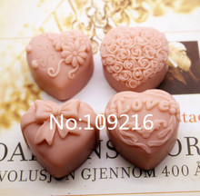 New Product!!1pcs Love Flowers (zx223) Food Grade Silicone Handmade Soap Mold Crafts DIY Mould