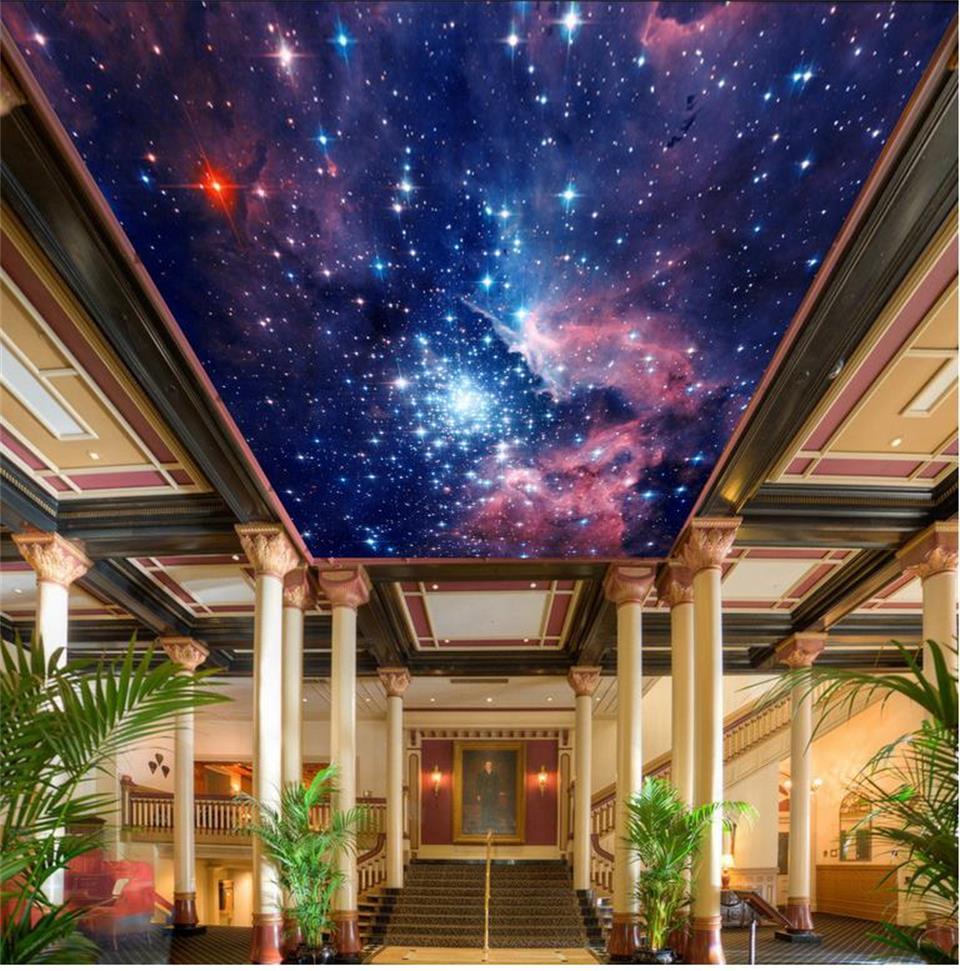 写真壁紙カスタム天井リビングルーム壁画ファンタジーユニバーススカイ