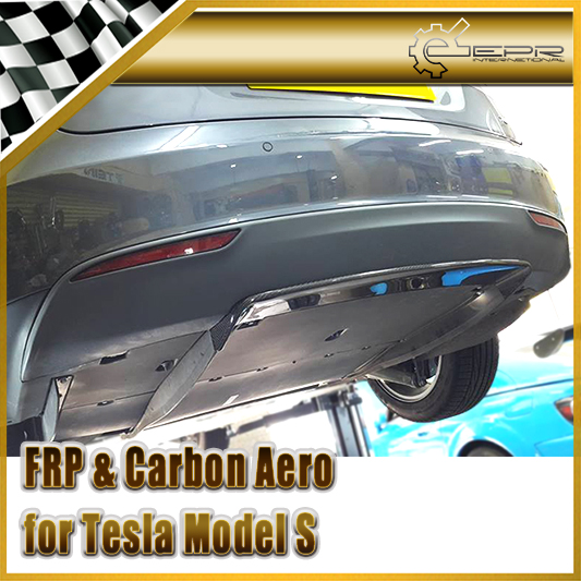 Car Styling For Tesla Model S OEM Style Carbon Fiber Rear Center Diffuser