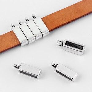 20 шт. 10 мм плоские держатели слайдеры шармы для использования с 5 мм 10 мм плоский кожаный шнур