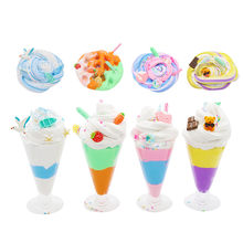 Slime Fluffy DIY Ice Cream Slice Clay Could Slime Putty Scented Stress Kids Modeling Clay Toys Anti Stress Plasticine Gifts(China)
