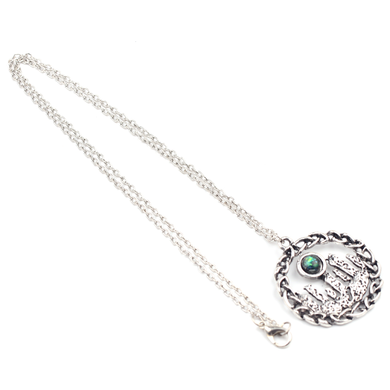 Vintage New Outlander Round Shape Necklace for Women Men Retro Charm Silver Color Scotland National Floral Jewelry Accessories