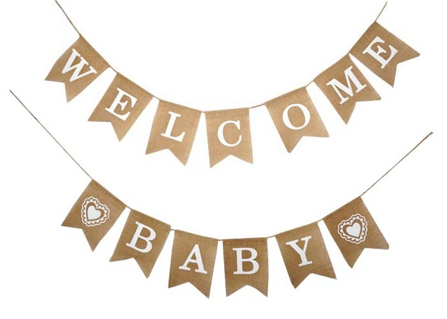 welcome baby new born party garland boy girl baby shower bunting